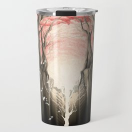 Revenge of the nature II: growing red forest above the city. Travel Mug