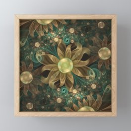 Shining Gems Blooming as Bronze and Copper Flowers Framed Mini Art Print