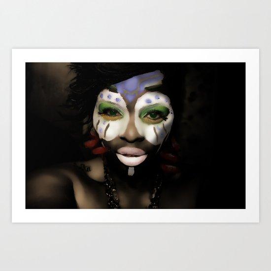 bleuGRN Art Print