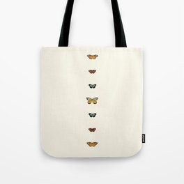 Butterfly Collage Vertical Tote Bag