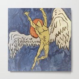 Zeppelin angel man Metal Print
