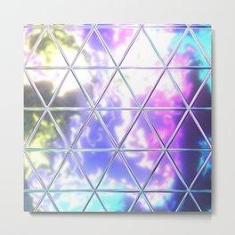 Triangle Glass Tiles 219 Metal Print