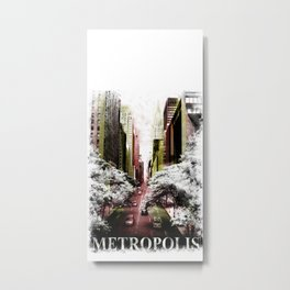 METROPOLIS CITY Metal Print