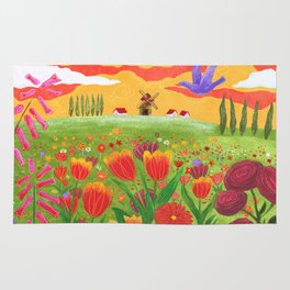 Flowers field Rug
