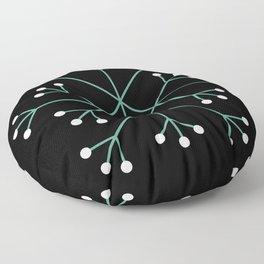 Mod Snowflake Dark Wintergreen Floor Pillow