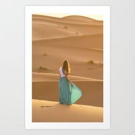 Sahara sunrise Art Print