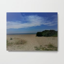 A day alone at a New England Beach Metal Print