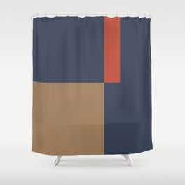 Contemporary Composition 29 Shower Curtain