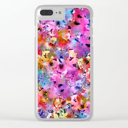 Sunshine Garden Clear iPhone Case