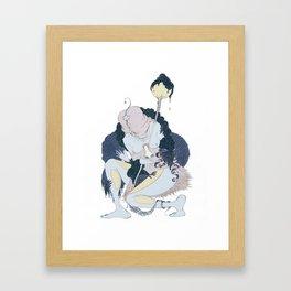 SHA MAN. MAN  Framed Art Print