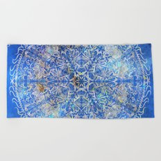 Mandala Gold #2 Beach Towel