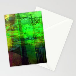 Sunset Transformer II- Toxic Green Stationery Cards
