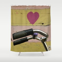 bicycle in Amsterdam Shower Curtain