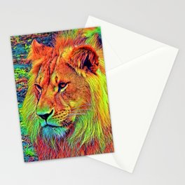 AnimalColor_Lion_004_by_JAMColors Stationery Cards