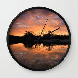 Spring Sunrise At Doe Lake Wall Clock