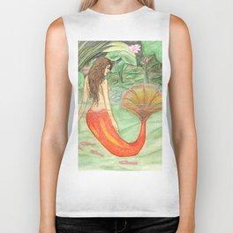 Waterlily Mermaid Biker Tank