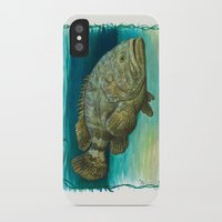biology iPhone & iPod Cases featuring Goliath Grouper ~ Watercolor by Amber Marine