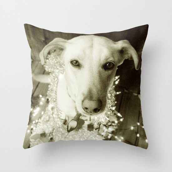 It's Beginning to Look a Lot Like Christmas B&W Throw Pillow