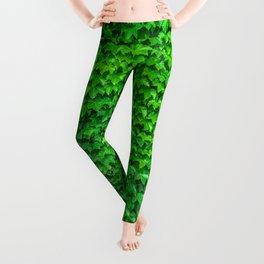 Deep Green Ivy Wall. Leggings