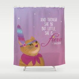 Fierce Tabby Cat Shower Curtain