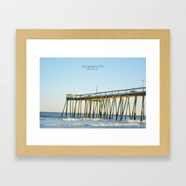 Ocean City Maryland. Framed Art Print