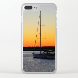 Sailing Into The Sunset Clear iPhone Case
