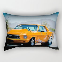 Orange Ford Mustang Rectangular Pillow