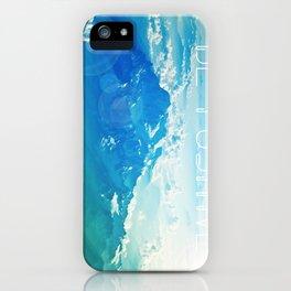 Large Be Positive Landscape Blue Print Poster Art iPhone Case