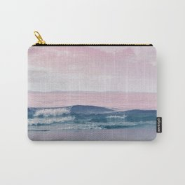 Pacific Dreamscape - Ocean Waves Pink + Blue Carry-All Pouch