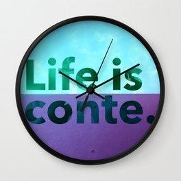 LIC skywalls color Wall Clock