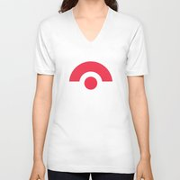 pokeball V-neck T-shirts featuring Pokeball by brane
