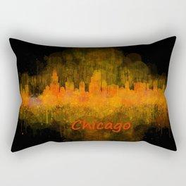 Chicago City Skyline Hq v4 Rectangular Pillow