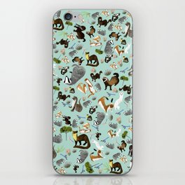 Mustelids from Spain pattern iPhone Skin