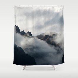 Shrouded in Mystery Shower Curtain