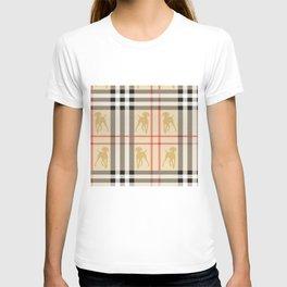 WEIMARANERS AND BEIGE PLAID T-shirt