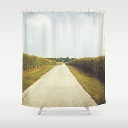 Indiana Corn Field Summers Shower Curtain