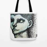 avatar Tote Bags featuring Avatar by MelPetrinack