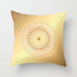 Gold Mandala Throw Pillow