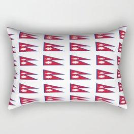 Flag of nepal - Nepali, नेपाल,nepalese,Everest,Kathmandu,Bhojpuri Rectangular Pillow
