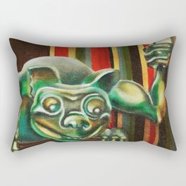 "Disneyland Haunted Mansion inspired ""Wall-To-Wall Creeps No.2"" Rectangular Pillow"