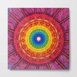 Eye of the Chakra Storm Metal Print