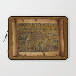 Ancient Egyptian Funerary Scroll pre 944 BC Laptop Sleeve