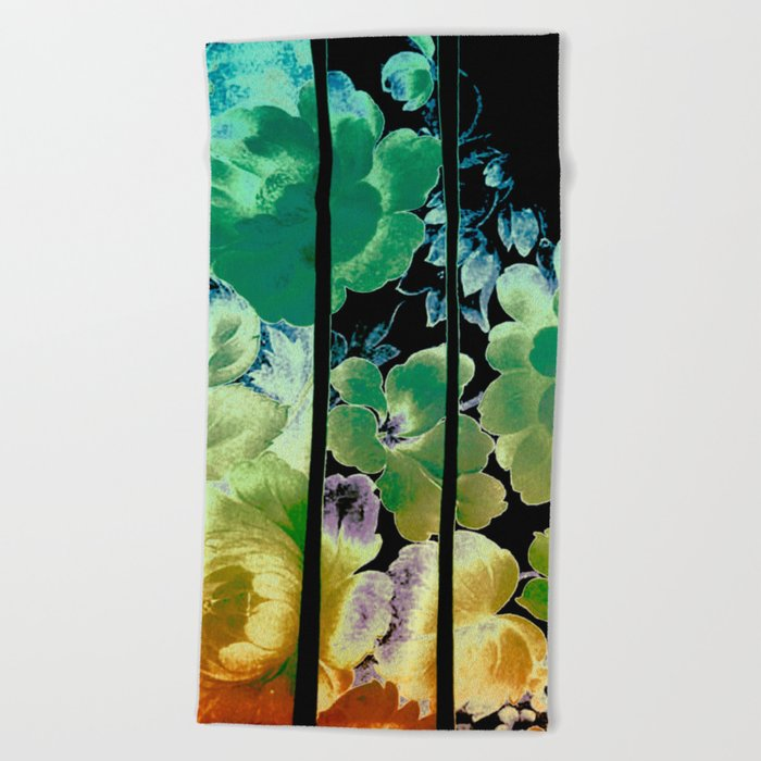 trapped floral Beach Towel