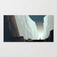 Ice Field & Ship Canvas Print