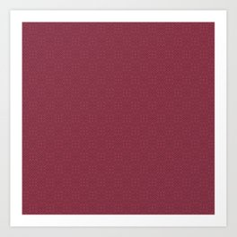 Rose Red (Rouge) Tres Petit Geometric Pattern Art Print