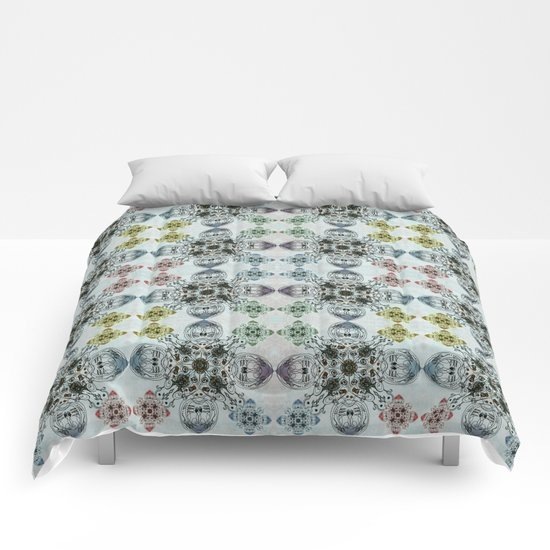 Abstract flower Comforters