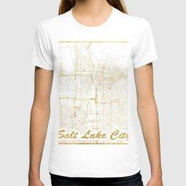 Salt Lake City Map Gold T-shirt