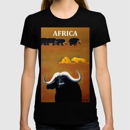 Vintage Africa Travel - Water Buffalo T-shirt