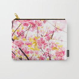 Beautiful photography pink cherry blossom flowers pattern Carry-All Pouch