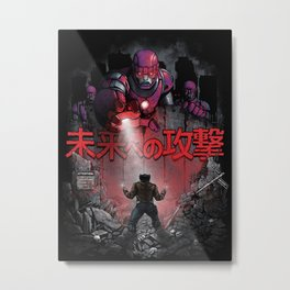 Attack On The Future Metal Print